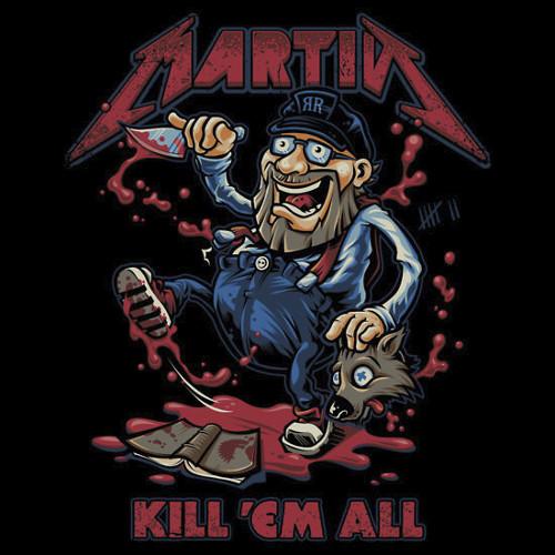 George RR Martin Metallica Kill 'em All Game of Thrones T-Shirt