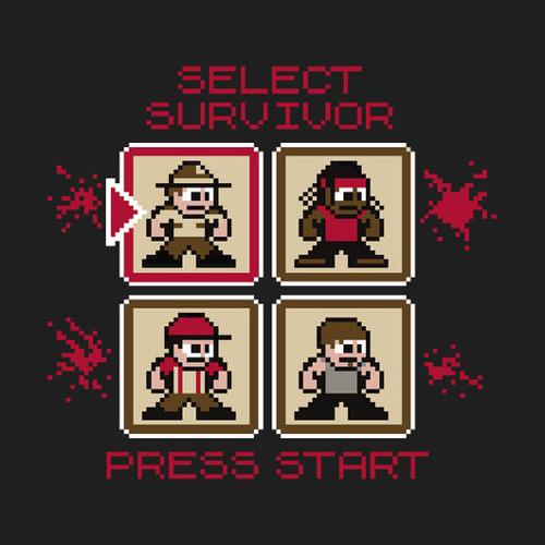 Walking Dead Survivor Select Game Screen T-Shirt