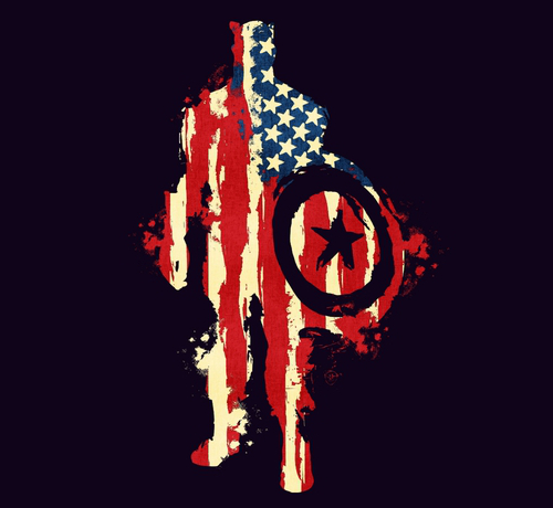 Captain America Flag Abstract T-Shirt