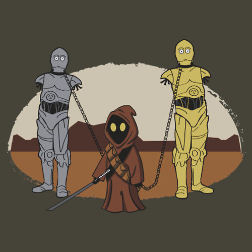 Walking Dead Star Wars Jawa Michonne Droids T-Shirt