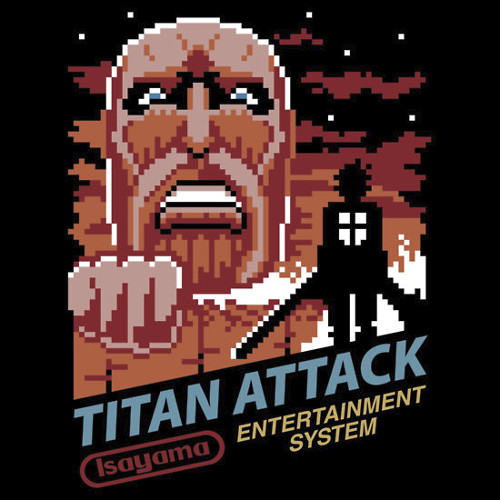 Attack on Titan Nintendo Game 8-Bit T-Shirt