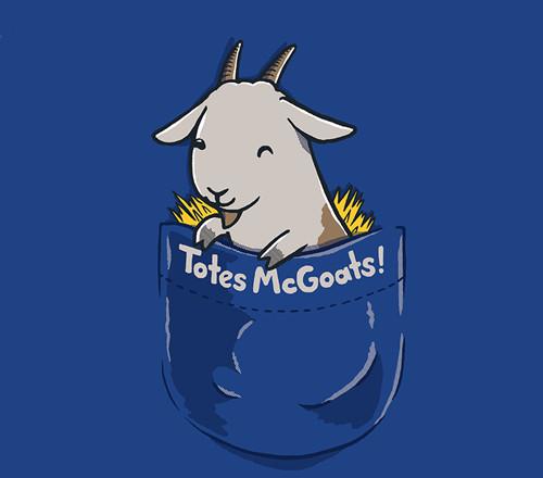 Totes McGoats McGotes Pocket Goat T-Shirt
