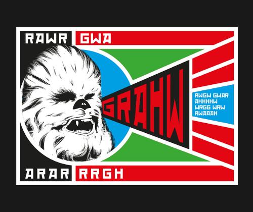 Chewbacca Propaganda Poster Rawr Star Wars T-Shirt