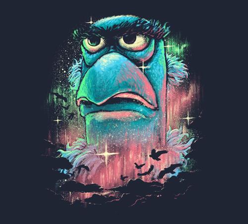 Flight Sam the Eagle Muppets T-Shirt