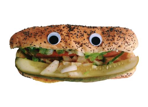 Googly Eye Chicago Style Hot Dog T-Shirt