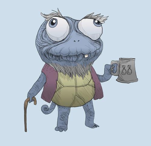Grandpa Squirtle Pokemon T-Shirt