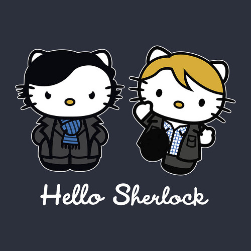 Hello Kitty Sherlock Watson Cute T-Shirt