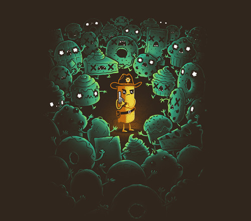 Walking Dead Twinkie the Kid Sheriff Grimes Funny T-Shirt