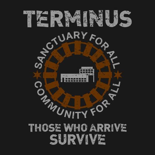 Terminus Those Who Arrive Survive Walking Dead T-Shirt