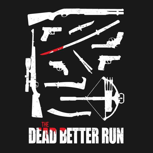Walking Dead Better Run Weapons T-Shirt