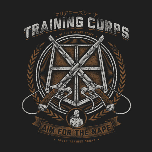 Attack on Titan Training Corps Aim for the Nape T-Shirt