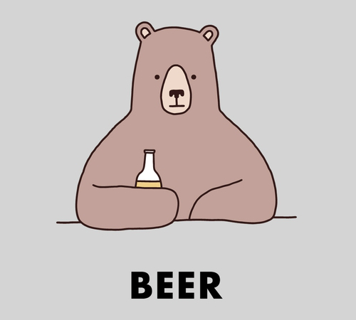 Bear With A Beer At The Bar T-Shirt