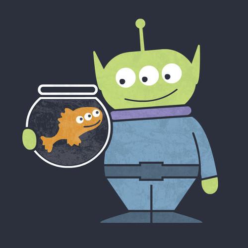 Blinky Fish Toy Story Alien Best Buddies T-Shirt