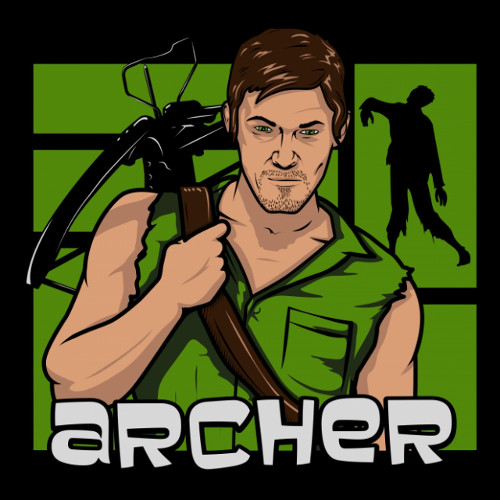 Daryl Archer Walking Dead T-Shirt