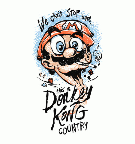 Donkey Kong Country Super Mario Fear and Loathing T-Shirt
