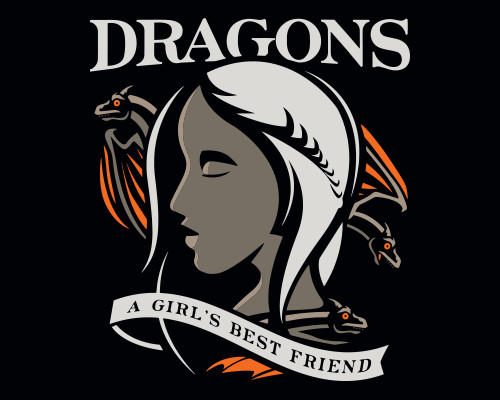Dragons Girl's Best Friend Daenerys Targaryen Game of Thrones T-Shirt