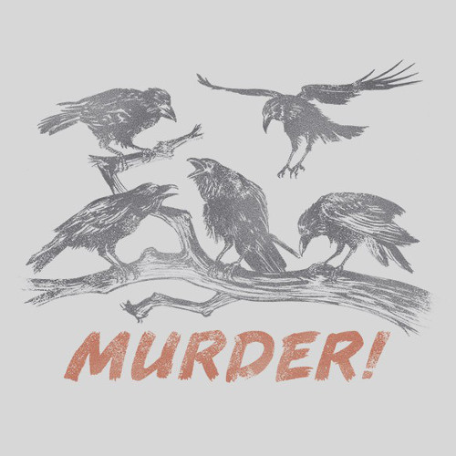 Murder! of Crows Funny Bird T-Shirt