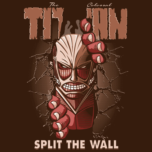 Attack on Titan Split The Wall Hulk T-Shirt