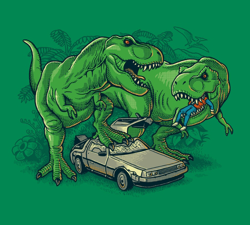 Back to the Future T-Rex Dinosaurs Funny T-Shirt
