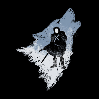 The Wolf Jon Snow Game of Thrones T-Shirt