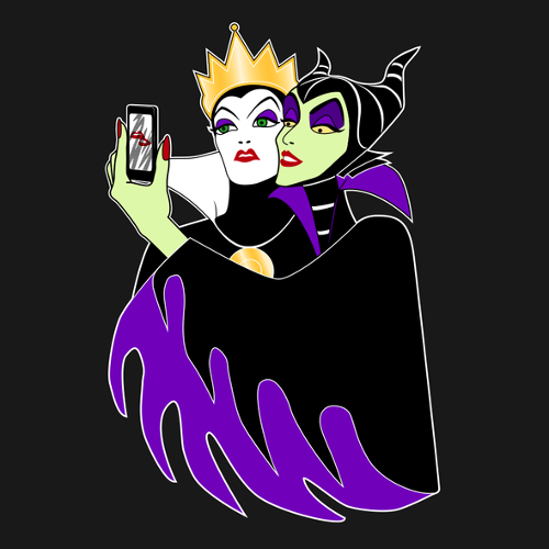 Wicked Selfie Evil Queen Maleficent Snow White Sleeping Beauty T-Shirt