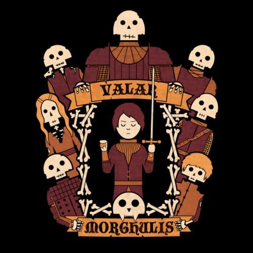 Arya Stark Valar Morghulis Game of Thrones T-Shirt