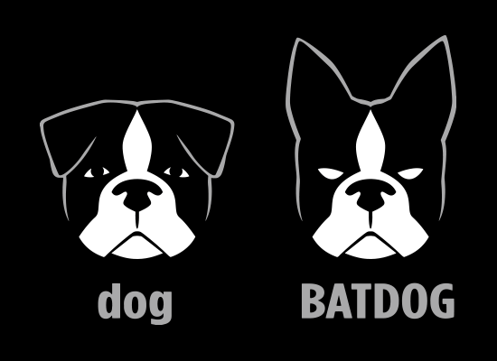 Batdog Ears Funny Dog Boston Terrier T-Shirt