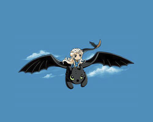 How To Train Your Dragon Daenerys Targaryen Game of Thrones T-Shirt
