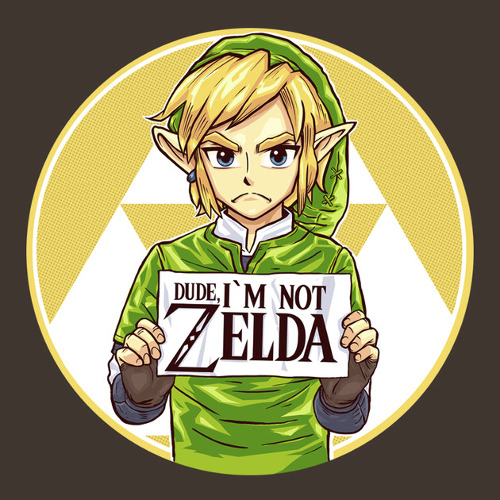 Dude I'm Not Zelda Link Funny T-Shirt