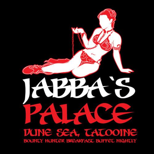 Jabba the Hutt Palace Strip Club Slave Leia Star Wars T-Shirt