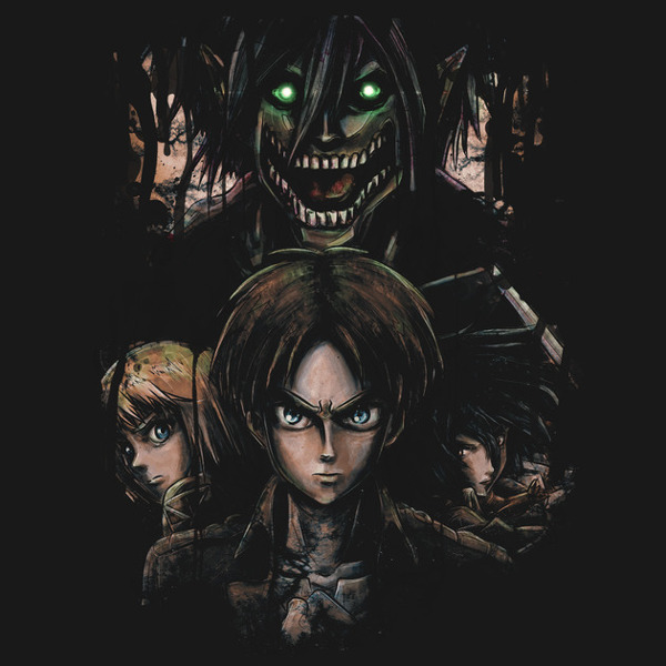 Attack on Titan Kyojin Jaeger Bombs Art T-Shirt