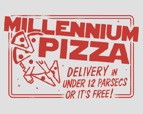 Millennium Falcon Pizza Delivery Funny Star Wars T-Shirt
