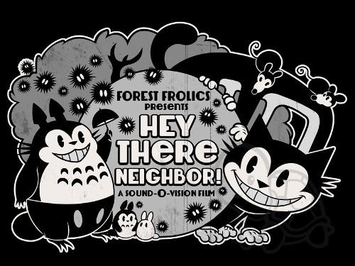 My Neighbor Totoro Retro Film Movie T-Shirt