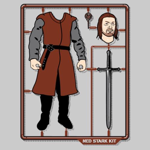 Ned Stark Model Kit Game of Thrones Funny T-Shirt