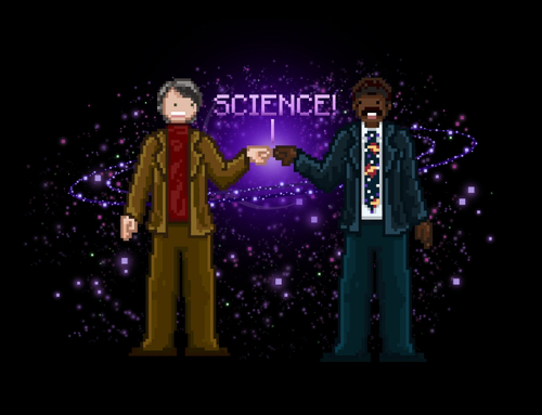 Science Cosmos Fist Bump Carl Sagan Neil deGrasse Tyson T-Shirt