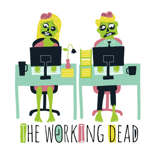 The Working Walking Dead Zombie Office T-Shirt