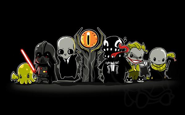 Adorable Villains Baddies Cute Sauron Vader Venom T-Shirt