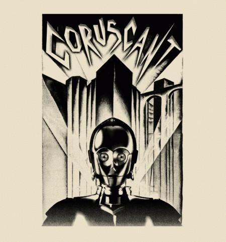 Coruscant C-3PO Metropolis Star Wars Sci-Fi T-Shirt