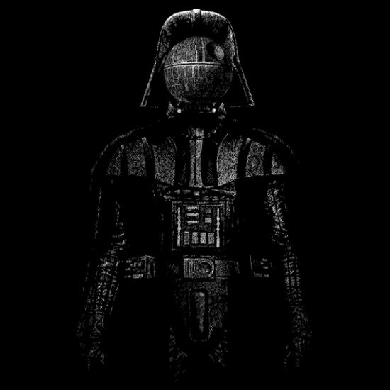 Darth Vader Rene Magritte Son of Man Death Star Wars T-Shirt