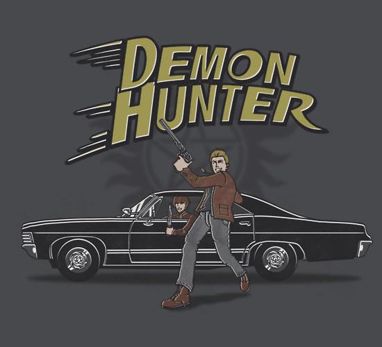 Demon Hunter Supernatural Speed Racer Dean Winchester T-Shirt