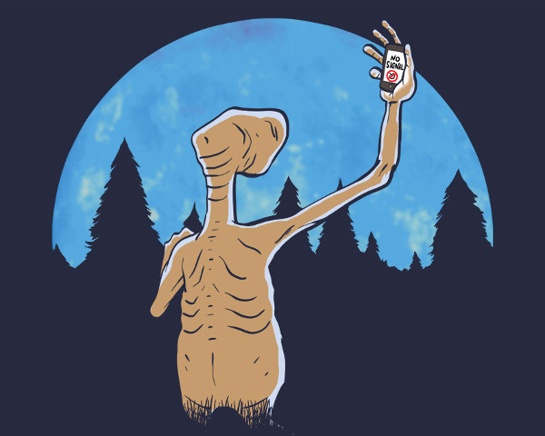 E.T. Cell Phone Home No Service Funny T-Shirt