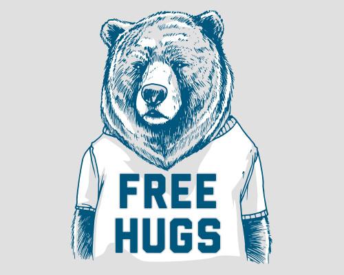Free Hugs Bear Funny T-Shirt