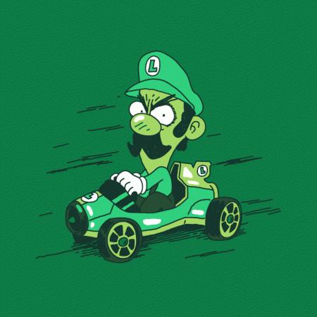 Luigi Death Stare Mario Kart 8 Funny T-Shirt