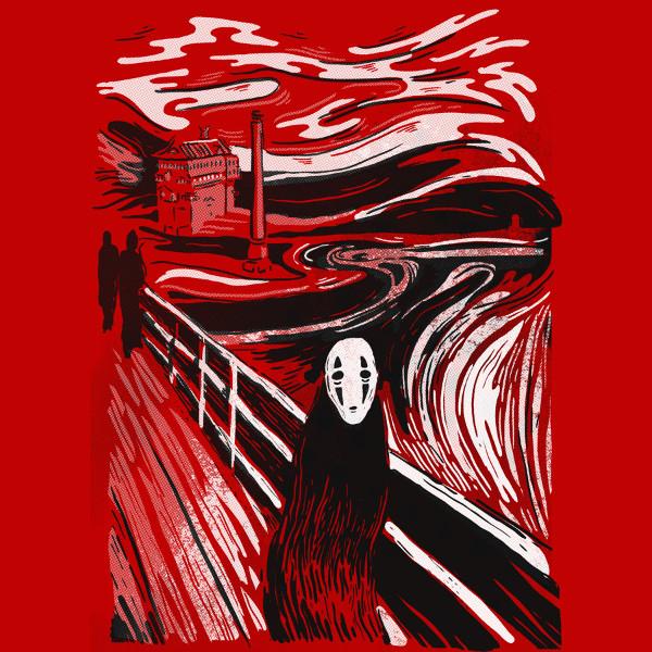 No-Face Scream Spirited Away Edvard Munch Art T-Shirt