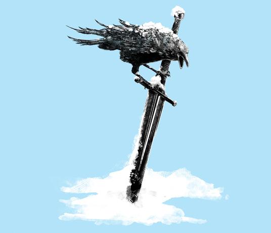 Crow Sword Jon Snow Game of Thrones T-Shirt