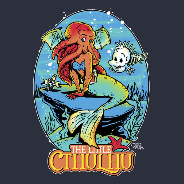 The Little Mermaid Cthulhu Funny T-Shirt