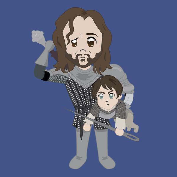 Arya Stark The Hound Cute Game of Thrones T-Shirt