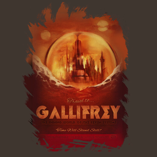 Visit Gallifrey Doctor Who Vacation T-Shirt