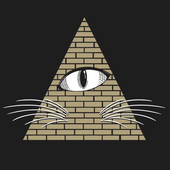 All-Seeing Cat Eye Illuminati T-Shirt