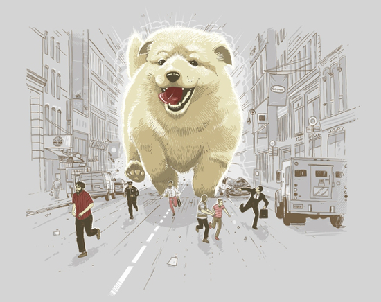 Dogzilla Dog Monster Cute Kaiju City T-Shirt